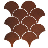 "4"" Conche or Fish Scale Tiles - Leather"