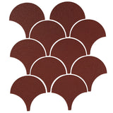 "4"" Conche or Fish Scale Tiles - Pueblo Red"