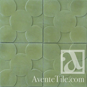 "Textured Circular 10"" x 10"" Encaustic Cement Tile"