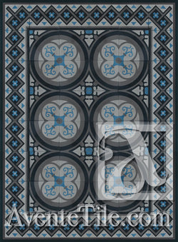Cuban Heritage Design 250 3B Encaustic Cement Tile Rug
