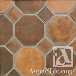 "Arabesque 12"" Octagon w/ dot Cement Tile"