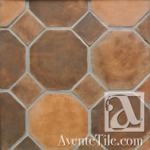 "Arabesque 10"" Octagon with Dot Cement Tile"