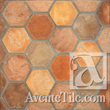 "Arabesque Normandy Cream 12"" Hexagon Cement Tile"