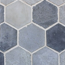 "Arabesque Portland 11"" Colonial Hexagon Cement Tile"