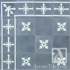"Traditional Cadiz Cement Tile 8"" x 8"" Cement Tile"