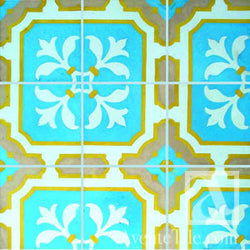 "Traditional Catalina Cement Tile 8"" x 8"" Cement Tile"