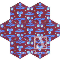 "Geometric Chitamani Cement Tile 8"" Hexagon Cement Tile"