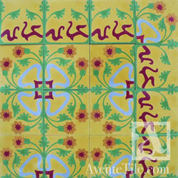"Traditional Clavel Cement Tile 8"" x 8"" Cement Tile"