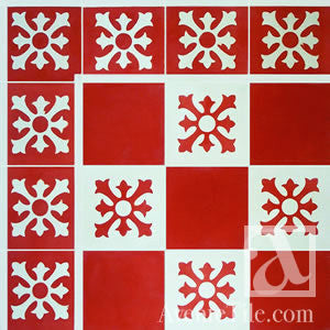"Traditional Cruz Saldrigas Cement Tile 8"" x 8"" Cement Tile"