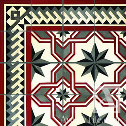 "Traditional Gran Cordoba Cement Tile 10"" x 10"" Cement Tile"