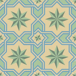 "Traditional Gran Cordoba Cement Tile 8"" x 8"" Cement Tile"