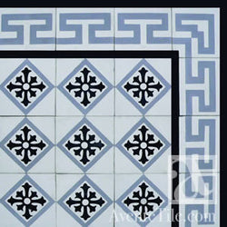"Traditional Isabela Cement Tile 8"" x 8"" Cement Tile"