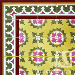 "Traditional Macoris Cement Tile 8"" x 8"" Cement Tile"
