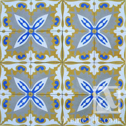 "Traditional Mayaguez Cement Tile 8"" x 8"" Cement Tile"