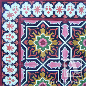 "Traditional Melilla Cement Tile 8"" x 8"" Cement Tile"