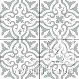 "Traditional Neiba B 8"" x 8"" Cement Tile"