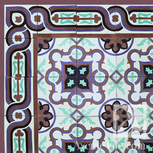 "Traditional Puerto Plata Cement Tile 8"" x 8"" Cement Tile"