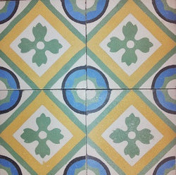 "Traditional Romana 4"" x 4"" Cement Tile"