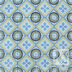 "Traditional Romana Cement Tile 8"" x 8"" Cement Tile"
