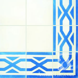 "Traditional Salcedo Border Cement Tile 8"" x 8"" Cement Tile"