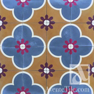 "Traditional San Cristobal Cement Tile 8"" x 8"" Cement Tile"