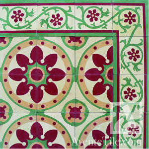 "Traditional Santa Barbara Cement Tile 8"" x 8"" Cement Tile"