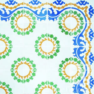 "Traditional Sevilla Cement Tile 8"" x 8"" Cement Tile"