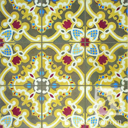 "Traditional Sosua Cement Tile 8"" x 8"" Cement Tile"