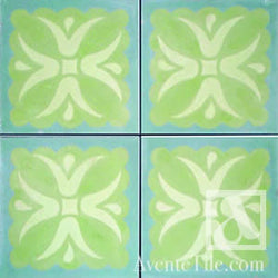 "Traditional Tulipan Cement Tile 8"" x 8"" Cement Tile"