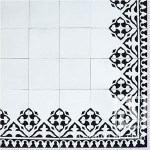 "Traditional Yuna Border Cement Tile 8"" x 8"" Cement Tile"