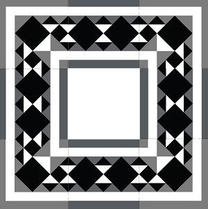 "Traditional Hacienda Border Cement Tile 8"" x 8"" Cement Tile"