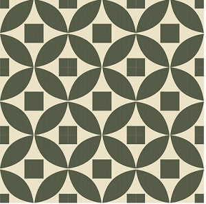 "Geometric Moroccan Circle 8"" x 8"" Cement Tile"