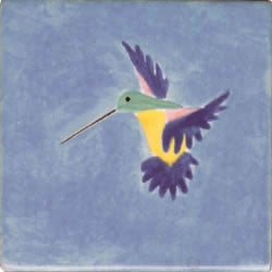 Whimsical Animal Hummingbird Tile