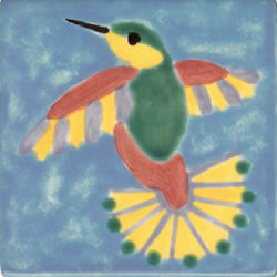 Whimsical Animal Hummingbird Large Tile