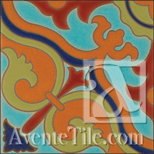 Malibu Floris B Spanish tile