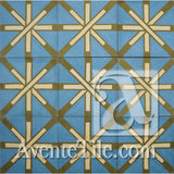 "Artist Series Guillermo Lama Berighestah 1B 10"" x 10"" Cement Tile"