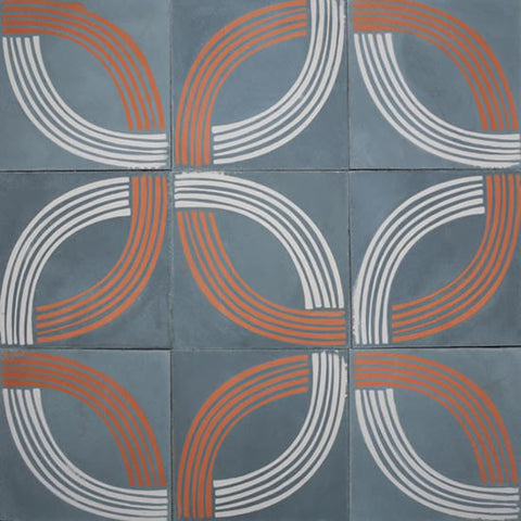 "Artist Series Tania Marmolejo Union 3A 10"" x 10"" Cement Tile"