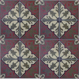 "Traditional Alcala A Field 8"" x 8"" Cement Tile"