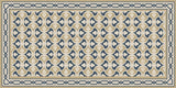 Mission Trebol Sonata Encaustic Cement Tile Rug with Chippendale Border