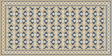 Mission Trebol Sonata Encaustic Cement Tile Rug with Moroccan Border