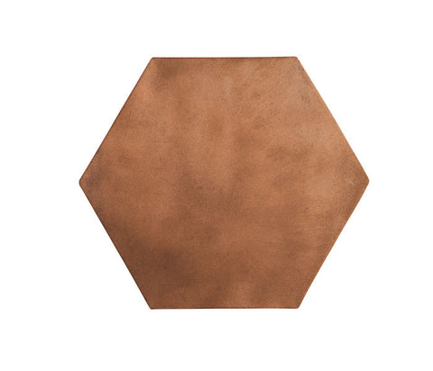 Arabesque 12x12 Hexagon Cotto Dark