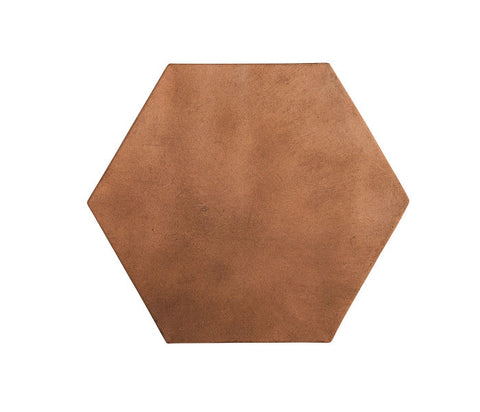 Arabesque 14x14 Hexagon Cotto Dark
