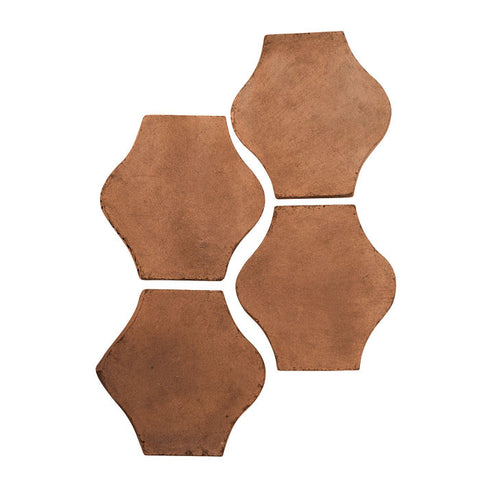 Arabesque 4x4 Pata Grande Cement Tile Cotto Dark