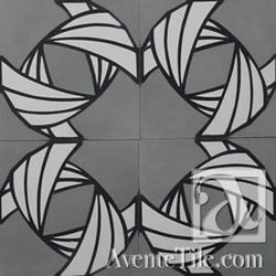 "Guillermo Lama Armor Tissue 1A 10""x10"" Encaustic Cement Tile"