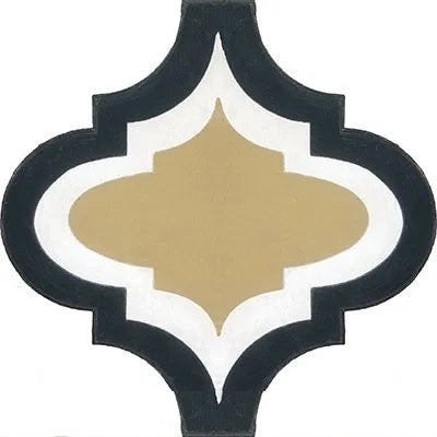 "Avente Arabesque Mission Malaga Frame 01 Cement Tile 10""x10"""