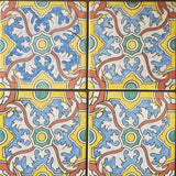 "Portuguese Braganza 6""x6"" Quarter Design Hand Painted Decorative Tile"