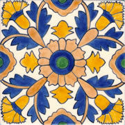 "Barcelona Cande Laria Large 6"" x 6"" Hand Painted Ceramic Tile"