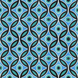 "Bahamas Cool Blue Encaustic Cement Tile 12""x12"" Rug (4x4 tiles)"