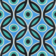 "Bahamas Cool Blue Encaustic Cement Tile 12""x12"" (four tiles)"