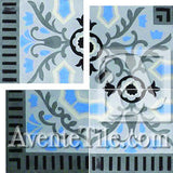 Cuban Heritage Design 110 2B Boarder Encaustic Cement Tile